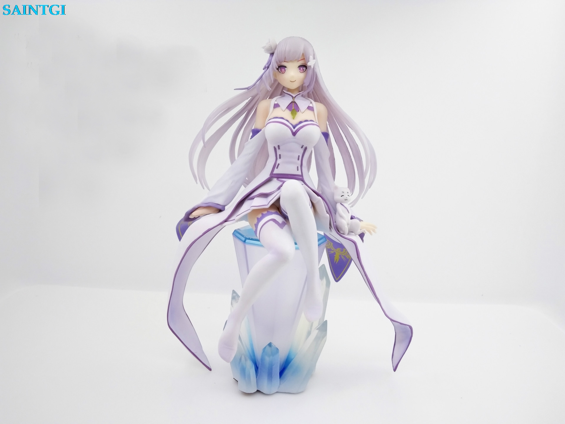 ФОТО SAINTGI Re Zero kara Hajimeru Isekai Seikatsu Emilia Wizard Japanese Anime Gift Action Figure Toys 21cm PVC Collection Model