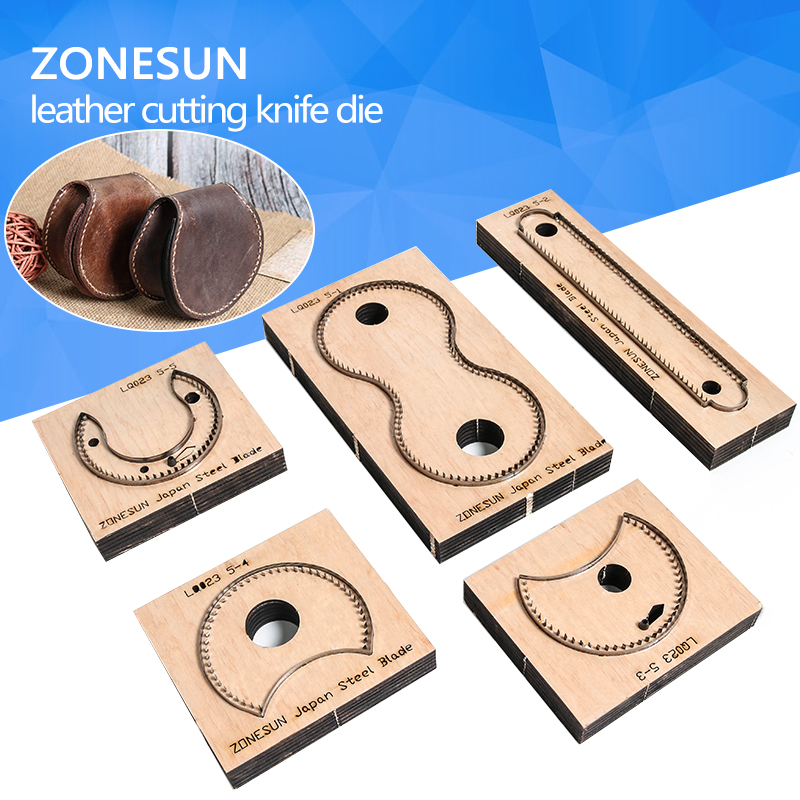 ZONESUN RCP Horseshoe bag wallet leather cutting die Japan steel Blade coin purse leathe cutter mold DIY leather laser knife die diy oval lace window embossed mould carbon steel cutting die