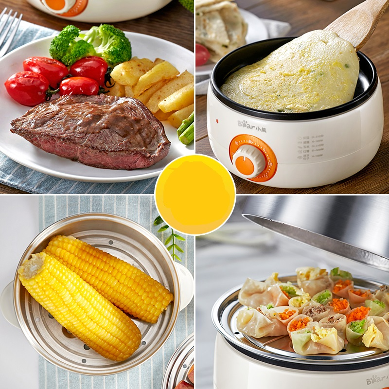 220V Electric Multifunctional Egg Boiler Electric Frying Pan Stainless Steel Non-stick Omelette Pancake Fried Steak EU/AU/UK/US цены онлайн