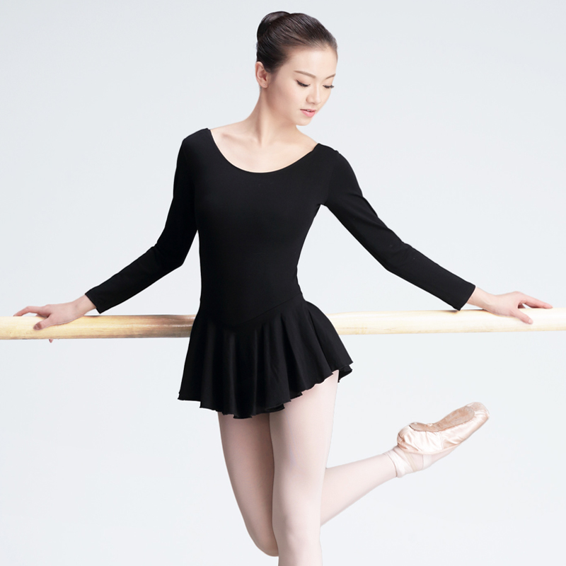 Girls Adult Ballet Dress Black Full Cotton Ballet Tutu ...