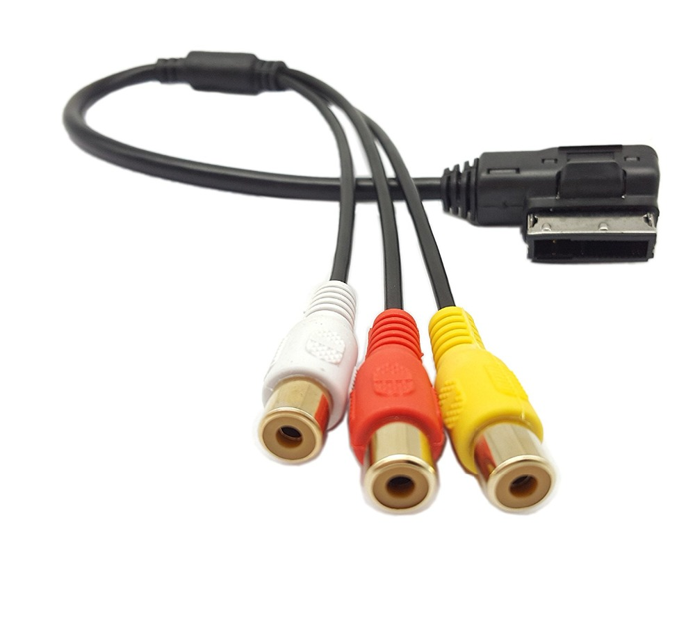 Audi AMI MMI 3RCA Audio Video Cable,SinLoon AMI MMI to 3RCA Female DVD video and audio input cable For Audi A1 A7 A8