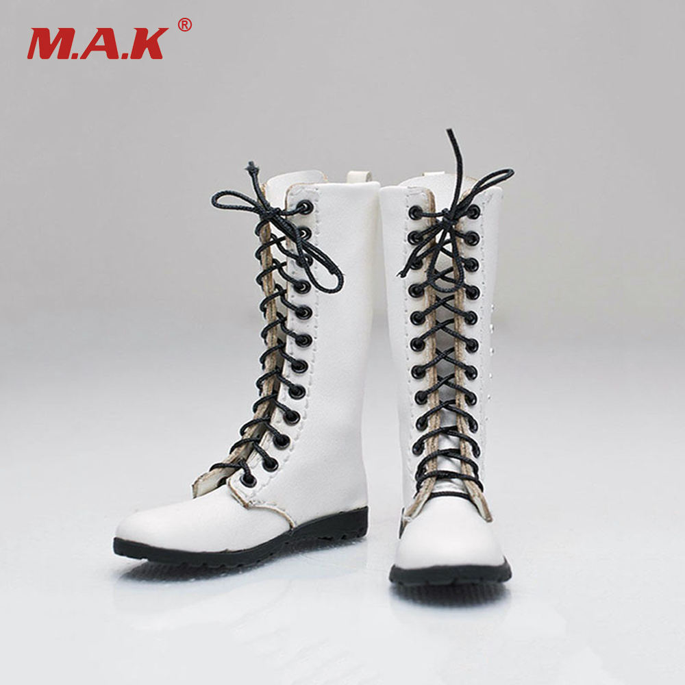 1 6 Scale Female White Long Boots Shoes Model Toys For 12inch Action Fashionable Figure Body Description Condition New Package X1 Note The Item Is Not