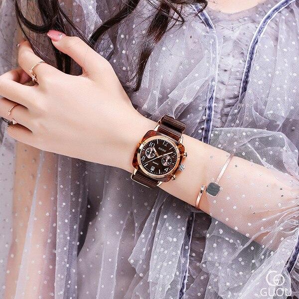 Classic Brand Couple Watch Big Dial Rose Gold Women Watches Ladies Casual Nylon Belt Watch Women Quartz Wristwatch Waterproof | Fotoflaco.net