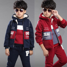 Boys Clothing set Thicken Boys Winter Clothes Sport Suit Cartoon fashion Sweater Children Clothing Set Kids Tracksuit Clothes