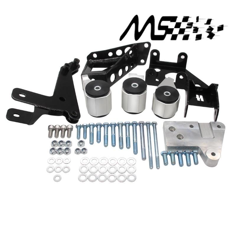 70A Serie K soportes del motor para Honda Civic 92-95 EG K20 K24 K-SERIES EG motor swap Kit con logo