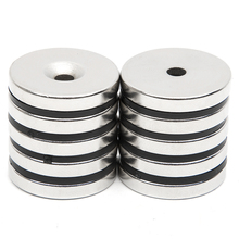 10pcs/Set Disc Mini 29.7x4.7mm with Bore 5mm N52 Rare Earth Strong Neodymium Magnet Bulk Super Round Shape Magnets