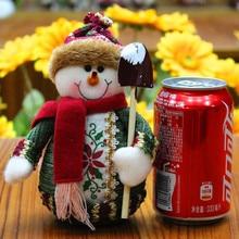 1 шт. Рождественский орнамент Санта Клаус Снеговик Лось Олень поставки Декоративная скатерть ручной работы Новогодние куклы счастливый подарок для детей