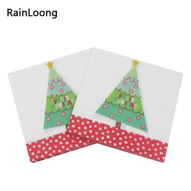 """{""""Segmented_title"""": """"Spain Feliz Navidad TreePaper servilletas pañuelos decoración servilletas 33 cm * 33 cm 1 pack/lote"""", """"nonsense_part"""": """"}"""
