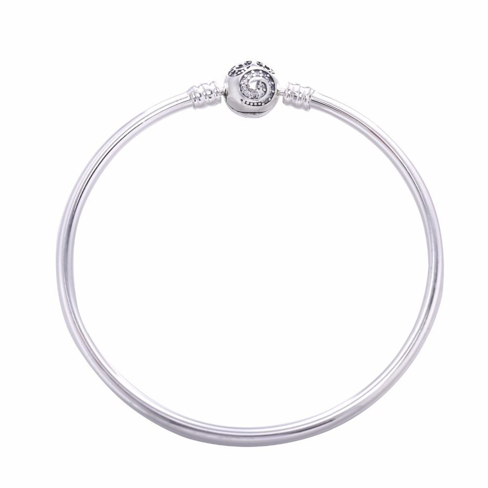 2017 new 100 925 sterling silver bangle rose Fit Original charms silver Bracelet bangle For Women