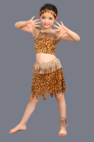 New Halloween Costumes Neutral Children Savage Leopard Hunter King Job Living Adult Costume