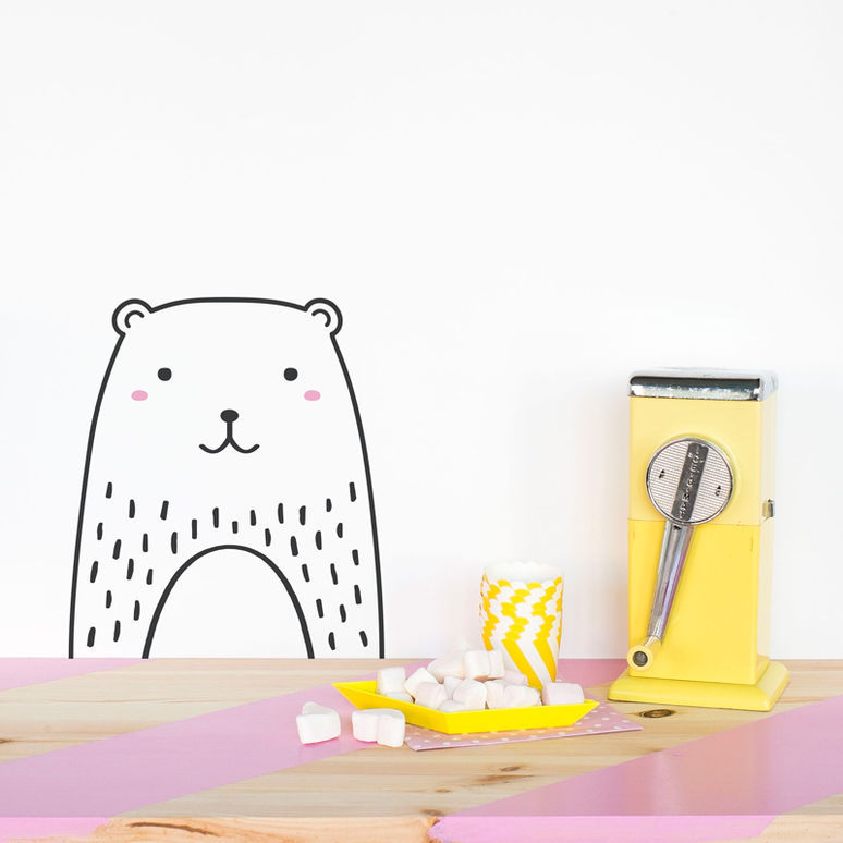 Минимализм Nordic Cute Animal Theme DIY Wall Sticker - Үйдің декоры - фото 3