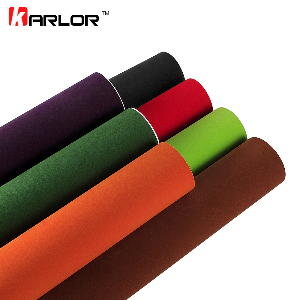 60x500cm Velvet Fabric Suede Vinyl Film Car Wrap Sticker Auto Decal Car Automobiles Self adhesive Sticker Car Stylng Accessories