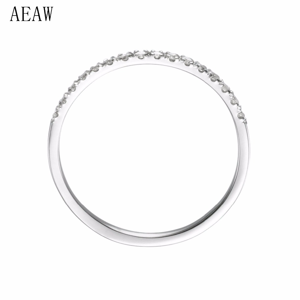 Slim Diamond wedding band eternity ring Classic round diamond band Pave diamond ring Anniversarry gift 14k White Gold