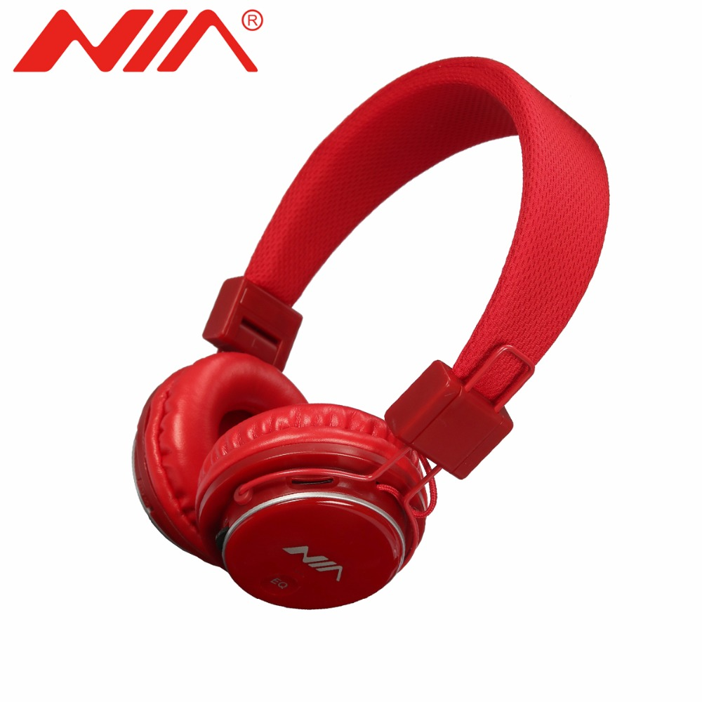 EQ Stereo Headphones NIA 8809S Original Free Shipping Foldable Sport Support TF Card FM Radio Earphone nia 1682s original stereo headphones 10 colors collapsible music player portable headset support tf card fm radio free shipping