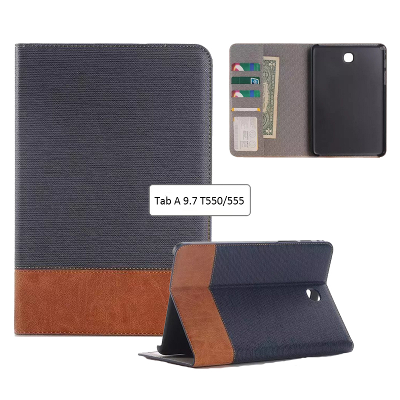T550 T555 Luxury case For Samsung Galaxy Tab A 9.7 SM-T550 SM-T555 SM-P550 P555 9.7'' Smart Stand Pu Leather Tablet Cover Case sm t525 case luxury crazy horse pattern pu leather stand cover case for samsung galaxy tab pro 10 1 t520 t521 t525 tablet pc