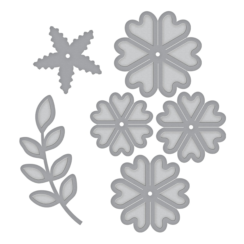 Heart Flower Grass Metal Cutting Dies Stencils For DIY Scrapbooking Decorative Embossing Suit Paper Cards Die Cutting Template in Cutting Dies from Home Garden