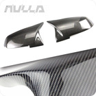 NULLA Carbon Fiber Rear View Mirror Cover Wing Trim For BMW 1 3 4 5 Series GT F30 F31 F33 F32 F34 F22 F23 F20 F21 X1 E84 F87 M2