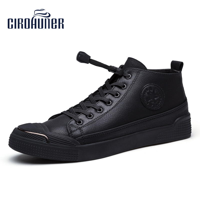 CIROHUNER High Top Shoes Classic Winter Boots Fashion Casual Men Shoes Waterproof Sneakers Men Lace Up Male Shoes Ankle Boots keenetic lte