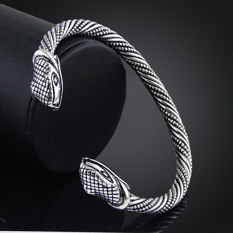 Bracelet Viking tête serpent  5