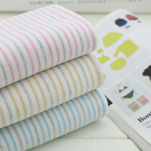 50*160cm width strip cotton knitted baby jersey fabric DIY sewing fashion apparel fabric by half meter