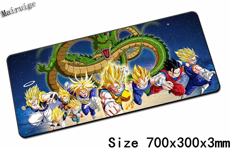 Mairuige 900 * 400mm XL Edge of Locking Big Mouse Pad for Dragon Ball Z Version Speed Gaming Mousepad Endows Edge Pad Mouse Pad