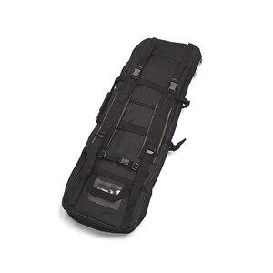 """Image 2 - 100cm 40 """"zoll Doppel Taschen SWAT Dual Taktische großen kapazität Tragetasche taschen für Gewehr Airsoft AEG Gun armee grün Schwarz"""