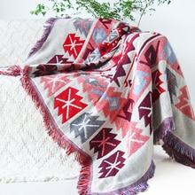 Alfombra Kilim para sofá de la sala dormitorio alfombra sofá manta patrón étnico Turco kilim Tapiz Colcha de hilo teñido