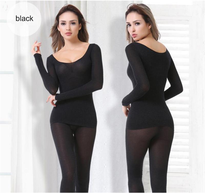 B.BANG Hot Winter 37 Degree Women Slimming Thermal Underwear Ultrathin Heat Long Johns Elastic Seamless Body Suit