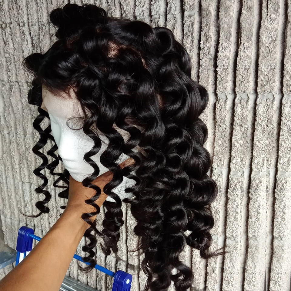 Image 3 - Brazilian loose wave bundles with frontal human hair weave frontal with bundles non remy hair bundles with lace frontal closure-in 3/4 Bundles with Closure from Hair Extensions & Wigs