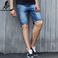 Pioneer Camp 2016 Fashion Summer Carsual Cotton Denim Shorts Solid Embroidery Men Short Jeans For Younth