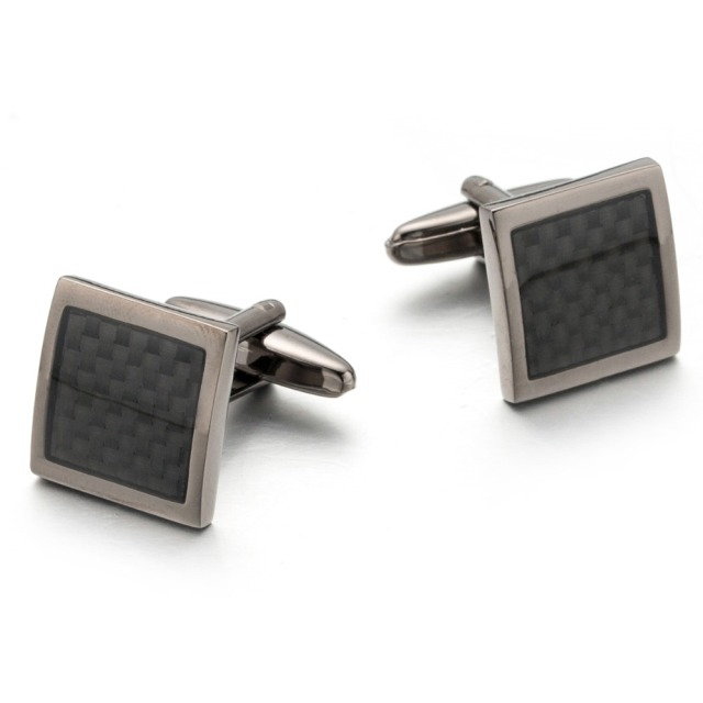 Vagula Ship Carbon Fiber Cufflinks High Gemelos Links French Shirt Cuff 335