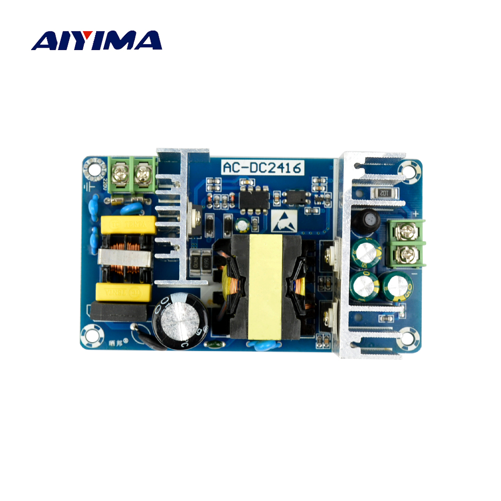 Aiyima 2017 All New AC-DC Power Supply Module AC 100-240V to DC 24V 6-9A Switching Power Supply Board aiyima 36v 180w ac dc switching power supply board high power industrial power supply module