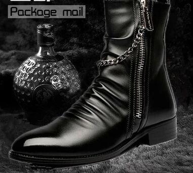 Black dress boots mens pendants