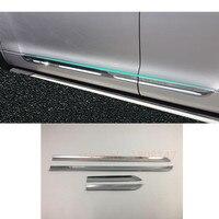 Car ABS chrome Side Door Body trim Strip Molding Stream bumper lamp panel frame 4pcs For Toyota Highlander 2008 2009 2010 2011