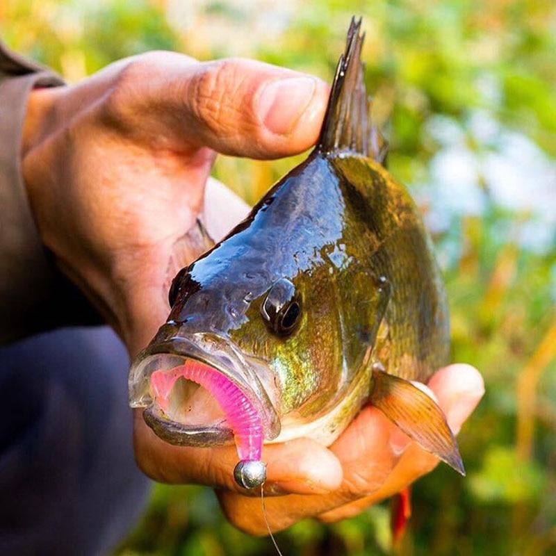 20pcs/lot Mini T Tail Soft Bait 38mm/0.8g SwimBait Plastic Worm Fishing Lure Small T Tail Soft Bionic Bait Lure