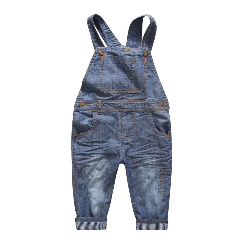 Baby Boy Girl Denim Bib Jeans Trousers 2017 Spring New Arrival Children Clothing with Pockets Korean Kids Patchwork Belt Pants pioneer camp 2017 new arrival spring jeans men famous brand clothing denim trousers men fashion casual male denim pants 611048