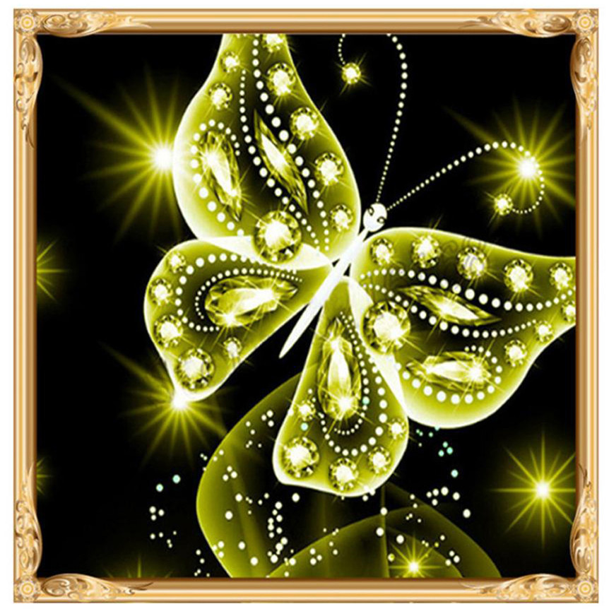 NAI YUE 5D Diamond Paintings Twinkling Butterfly Diamond Rhinestone ...