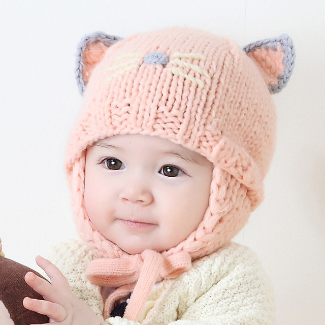 cb5838ba2 2017 cartoon kids Winter hats new Korean children hat cute ear warm ...