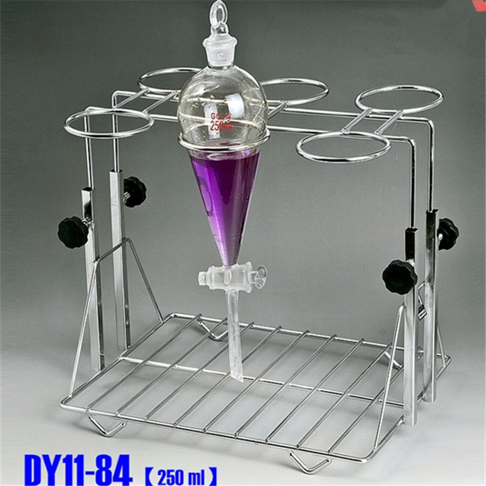 Liftable Stainless Steel Separating funnel stand support for 500ml W 6 holes Lab suppliesLiftable Stainless Steel Separating funnel stand support for 500ml W 6 holes Lab supplies