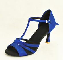 Wholesale Ladies Girls Blue Satin Ballroom Latin Samba Salsa Ceroc Tango Dance Shoes All Size