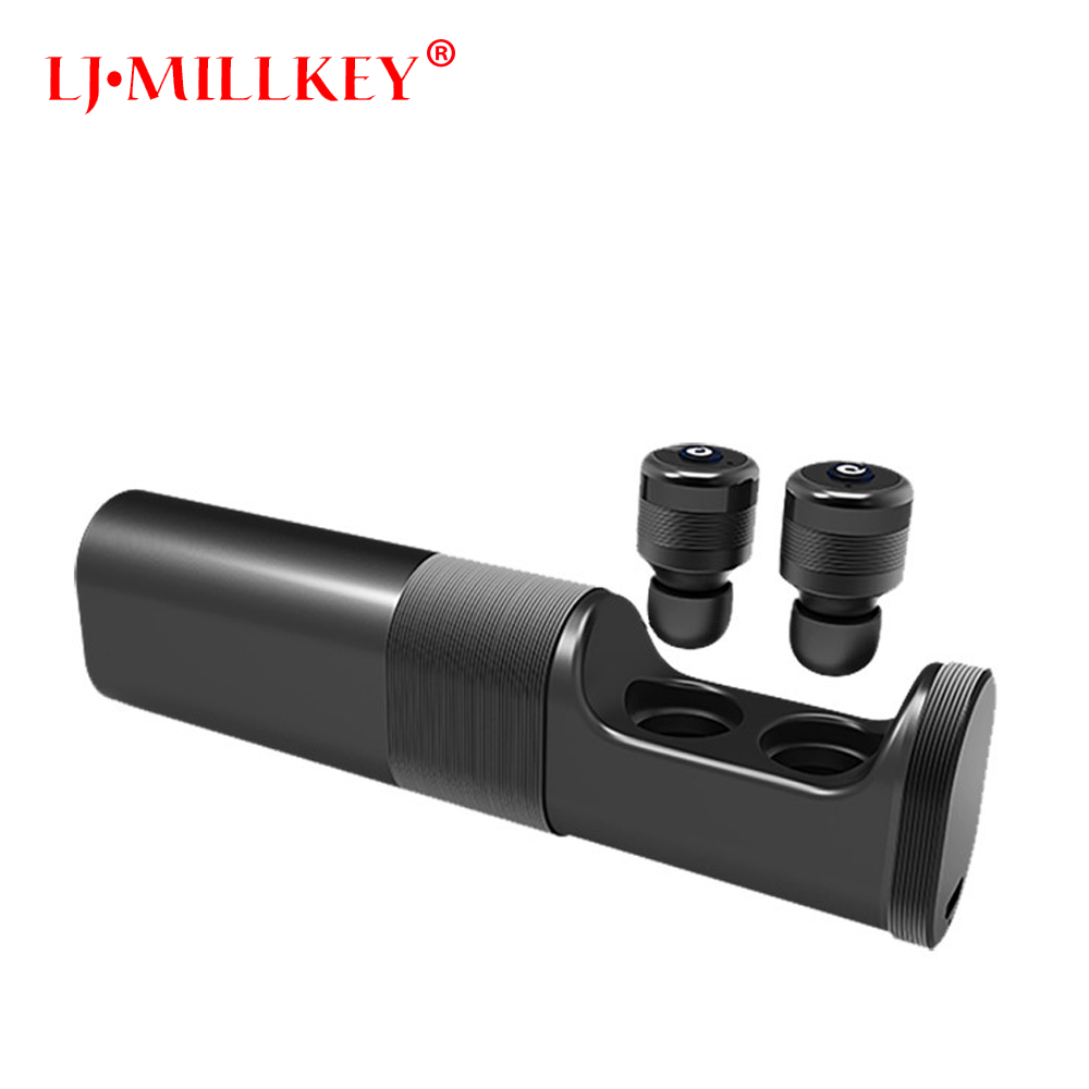 Wireless Stereo Mini Bluetooth headset Stereo Earphone built-in Mic Wireless Recharge Earbud With Charging Box LJ-MILLKEY YZ116 hotgo car bluetooth headset mini wireless earbud with mic stereo in ear earphone magnetic usb charger headsets for smartphonep35