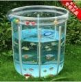 Портативный ребенок круглый пластиковый в бассейне младенцев ребенка эко-сельское прозрачный бассейны умывальница