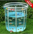 Portable baby swimming round plastic pool infant babies child eco-friendly transparent swimming pools piscina