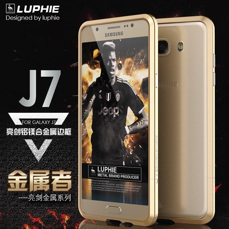 Aviation Alumin Aluminum Bumper For Samsung Galaxy J7 2016 Case Prismatic Shape Shell Frame Metal J7 J710 Button Cover