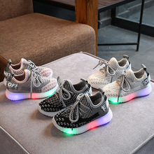 Sneakers Kids Sprots-Shoes Led-Lights Casual-Wear Girls Baby Boys New-Fashion And SH19048