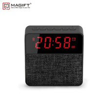 Magift Clock Speaker Bluetooth Wireless Column 3.5mm Audio Cable TF Card Udisk FM Radio Portable Bluetooth Speakers for Computer