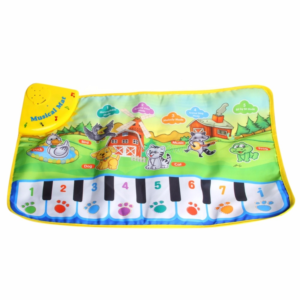 Children Piano Mat Animal Pattern Baby Touch Play Keyboard