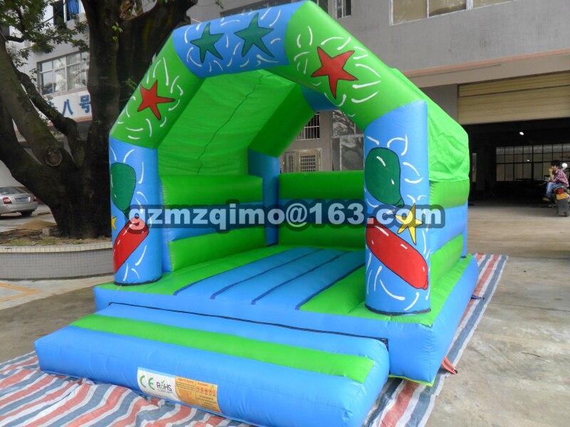 PVC 4.35X3.45 m populaire PVC Commercial gonflable videur château gonflable jouet gonflable pour les enfants un cadeau d'anniversaire