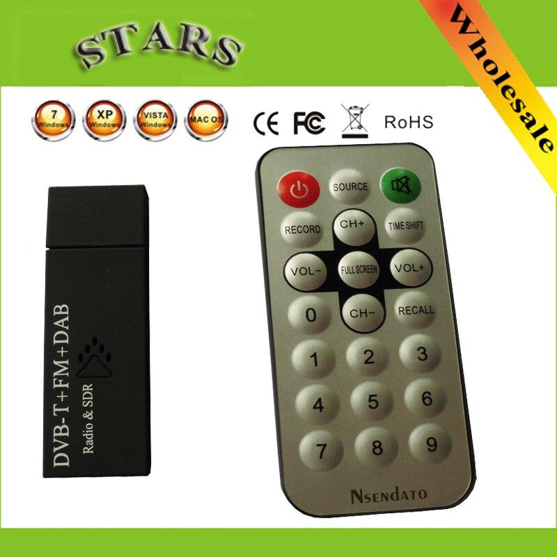RTL DVB-T / FM + DAB USB 2.0 Mini-Digital-TV-Stick DVB T-Dongle-SDR mit RTL2832U & FC0013 SDR-Radioempfänger + Fernbedienung