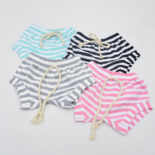 New summer boys and girls baby child cotton bread pants small shorts stripe candy color children shorts 0-4Y